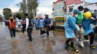 IMSS Hospital flooding Mexico