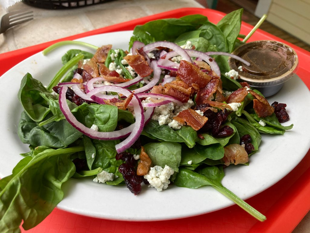 A salad at Fiddleheads Cafe