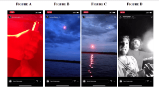 Screenshots of a prank that landed two men in hot water with the U.S. Coast Guard