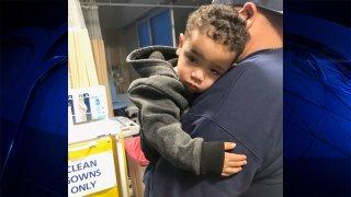 A child found near Interstate 95 in Pawtucket, Rhode Island