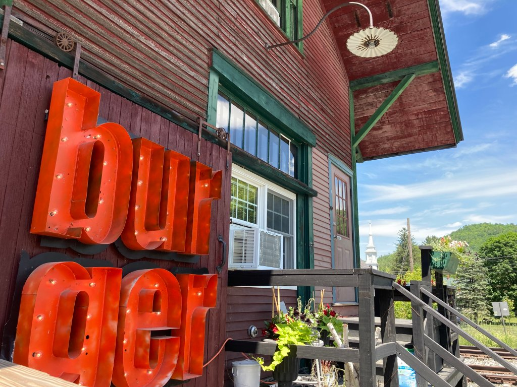 Outside Worthy Burger in South Royalton, Vermont