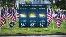 Spotty Showers Coming on Memorial Day