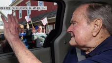 Former President George H.W. Bush Arrives in Maine