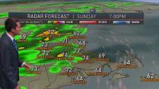 Sunday Brings More Pop Up Showers, Storms