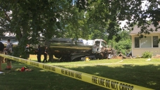 Tanker Truck Crashes into Home