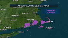 Splendid Weather Settles in New England; High Surf Advisory