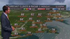 Mostly Sunny, Warm and Humid to Begin Week