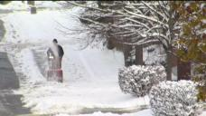 Cleanup Begins After First Snowfall of the Season