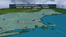 Isolated Storms Move Out as Fog Moves In
