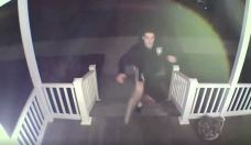 Police Looking for Man Caught on Camera Vandalizing Home