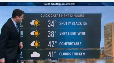 Black Ice Gives Way to Pleasant Friday