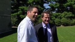 Matt Noyes Surprises Former Classmate Rep. Seth Moulton