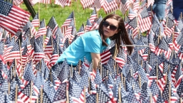 Thousands of Flags Planted on Boston Common for Memorial Day