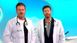 Eric Dane and Harry Put on Lab Coats