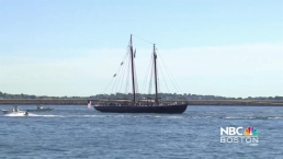Tall Ships Depart Boston Harbor