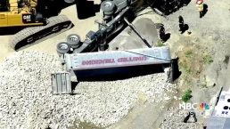Tractor-Trailer Rolls Over in Waltham, Massachusetts
