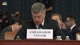 Taylor Aide Overheard Trump Conversation About 'Investigations' in Ukraine