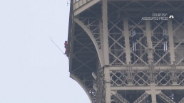 Eiffel Tower Closed After Man Climbs Monument