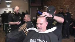 Fenway Park Hosts Shave-Off Event for First Responders
