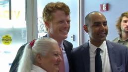 Kennedy Brings Senate Campaign to Boston