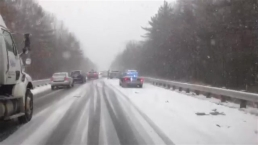 Vehicles Crash on Slick Rte. 3 Roads