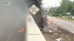 Semi-Truck Explosion on Interstate 41/94 in Southeastern Wisconsin