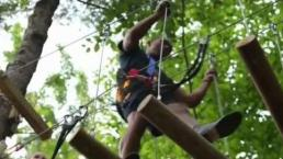 Testing Your Agility at Aerial Forest Adventure Park