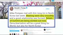 Trump: CIA Chief Secretly Met With Kim Jong Un
