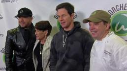 Wahlbergs in Town to Celebrate Dorchester Opening of Wahlburgers
