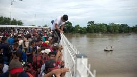 Caravan at Mexico-Guatemala Border Shrinks as Migrants Cross