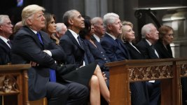 Presidents Club Assembles for Bush Funeral, Trump on Fringes