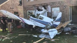 Small Plane Crashes into Home in Texas