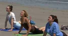 Beach Yoga, Cider Donuts in Ipswich, Mass.