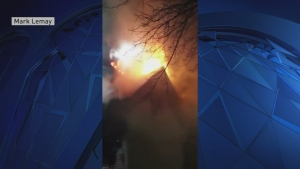 Fire in Manchester, New Hampshire