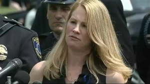 Widow of Slain Auburn, Massachusetts, Police Officer Speaks