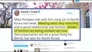 Trump: CIA Chief Secretly Met With Kim Jong Un