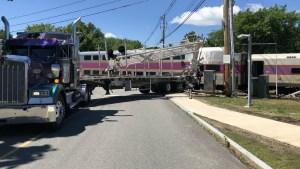 MBTA Commuter Rail Train Hits Tractor Trailer in Littleton