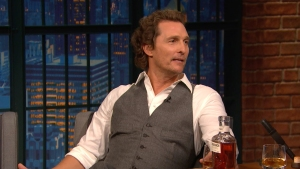 'Late Night': Matthew McConaughey Describes Whiskey Like Music