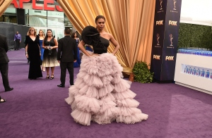 Emmys Carpet Lights Up in Reds, Pinks and Golden Hollywood