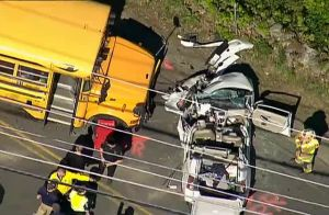 School Bus Crash in Durham, NH