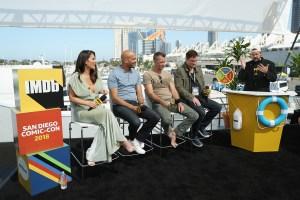 Top Celeb Photos: 'The Predator' Stars Panel Aboard Yacht