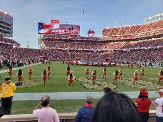49ers Cheerleader Kneels During National Anthem
