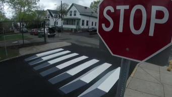 10-Year-Old Hopes 3D Crosswalk Improves Safety