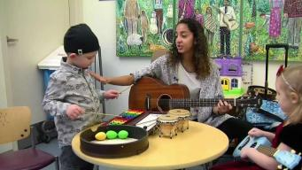 5-Year-Old Using Music Therapy During Cancer Treatments