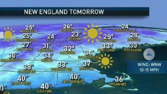 [NECN Weather Forecast: Cold Night, Chilly Monday Ahead