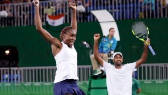 Williams and Ram Advance in Mixed Doubles; Puig Wins Gold