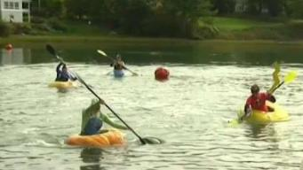People Flock to Maine to Watch Pumpkin Regatta
