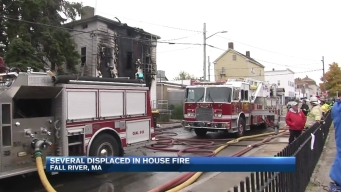 Firefighters Battle Massachusetts Fire