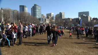 Record-High Temps Draw Crowds to Boston Winterfest