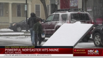 Storm Makes a Quick, Harsh Entry In Kittery, Maine